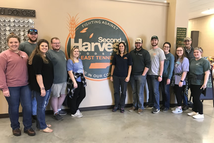 Farm Credit Scholars at Second Harvest Food Bank