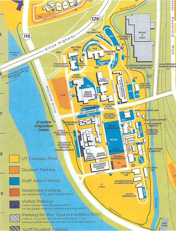 Ag Campus Map