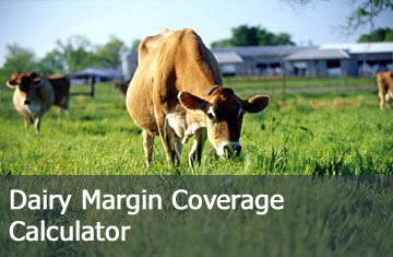 Click here to learn more about the Dairy Margin Protection Program Calculator.