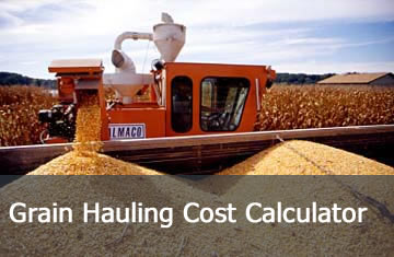 Click here to learn more about the Grain Hauling Cost Calculator.